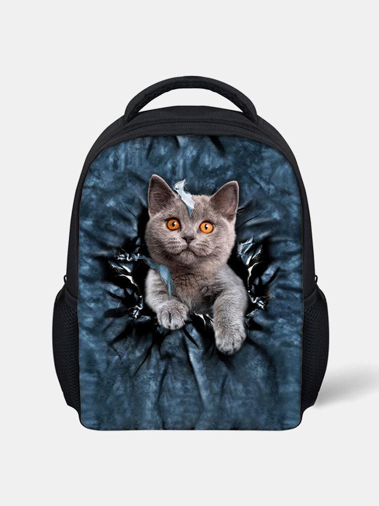 Animal Creative Cartoon Cute Cat Casual Style Backpack Schoolbag