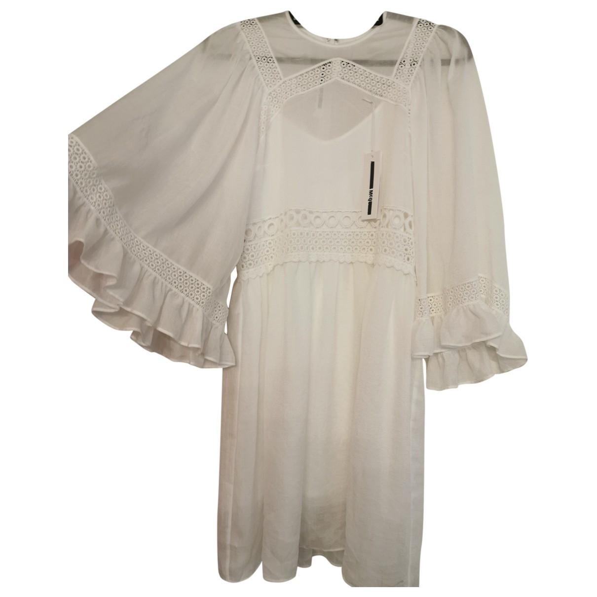 Mcq \N Kleid in  Weiss Baumwolle