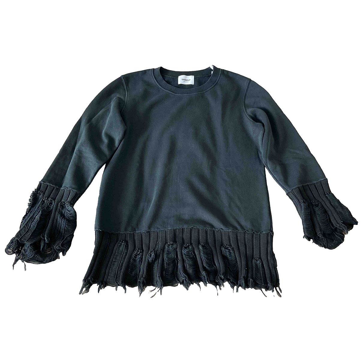 Dondup - Pull   pour femme en coton - noir