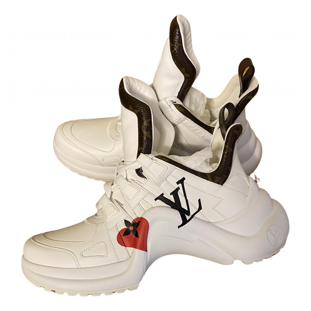 Louis Vuitton - Baskets Archlight pour femme en cuir - blanc