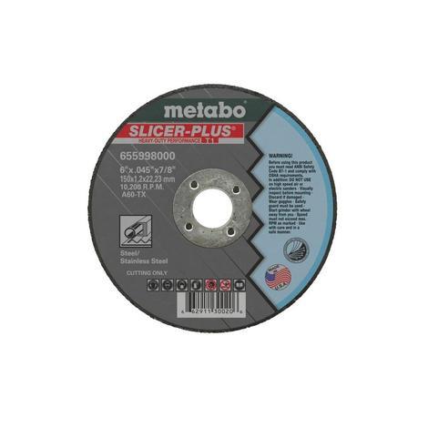 Metabo 5 In. x 0.045 In. x 7/8 In. Slicer Plus Type 1