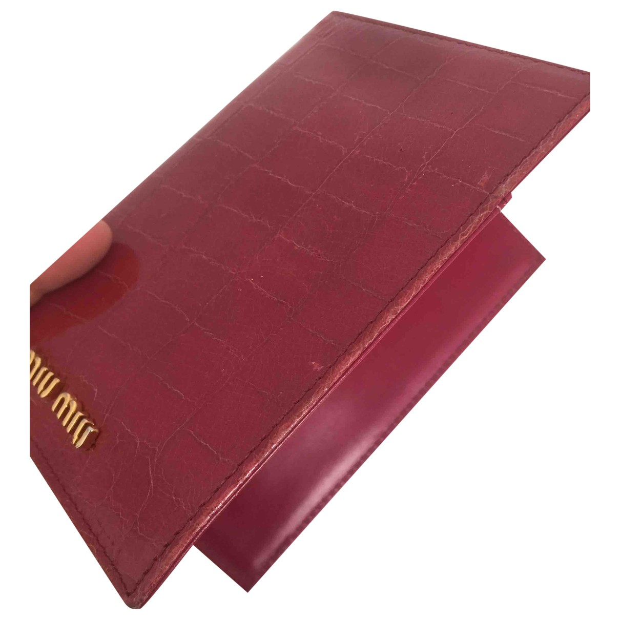 Miu Miu \N Burgundy Leather Purses, wallet & cases for Women \N