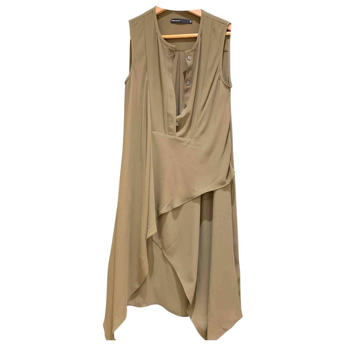 Karen Millen \N Khaki dress for Women 6 UK