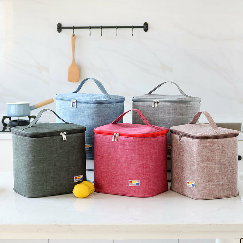 Simple Large Portable Insulation Package Insulated Lunch Box Bag Waterproof Thickening Ice Pack