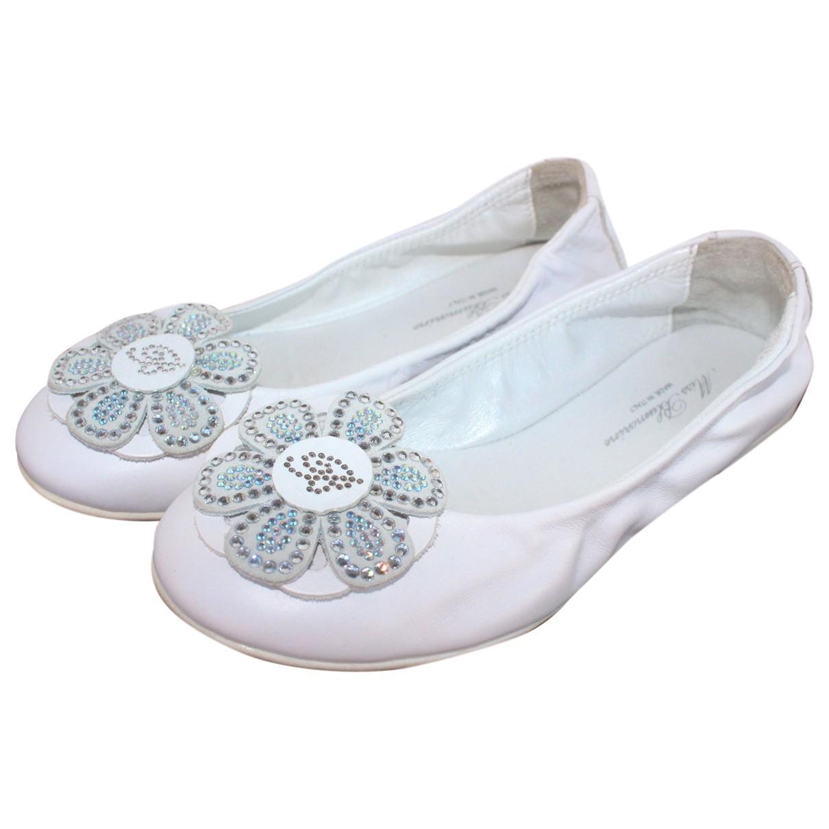 Blumarine \N Ballerinas in  Weiss Leder