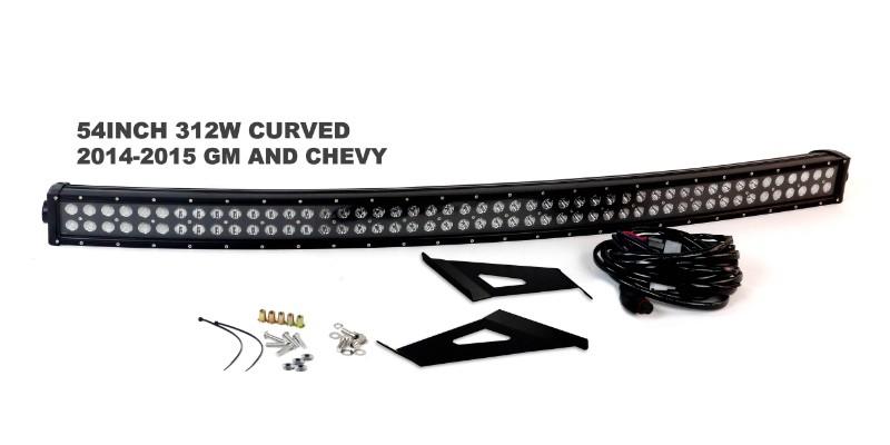 Race Sport Lighting RS-L45-312W Complete LED Light Bar Kit Chevrolet 14-17 | GMC 14-17
