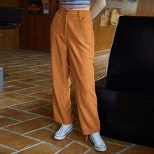 Corduroy Solid Pants