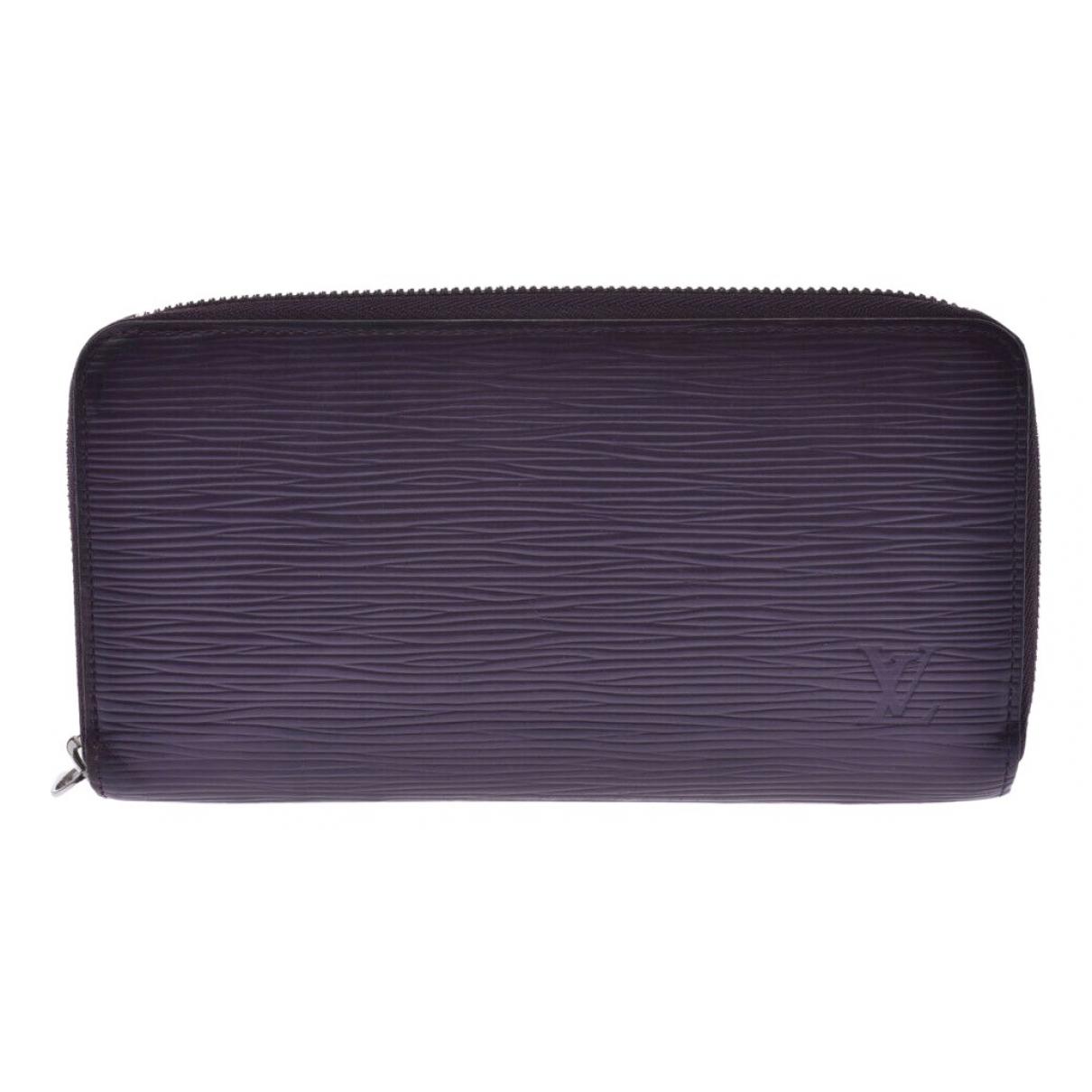 Louis Vuitton Zippy Portemonnaie in  Lila Leder