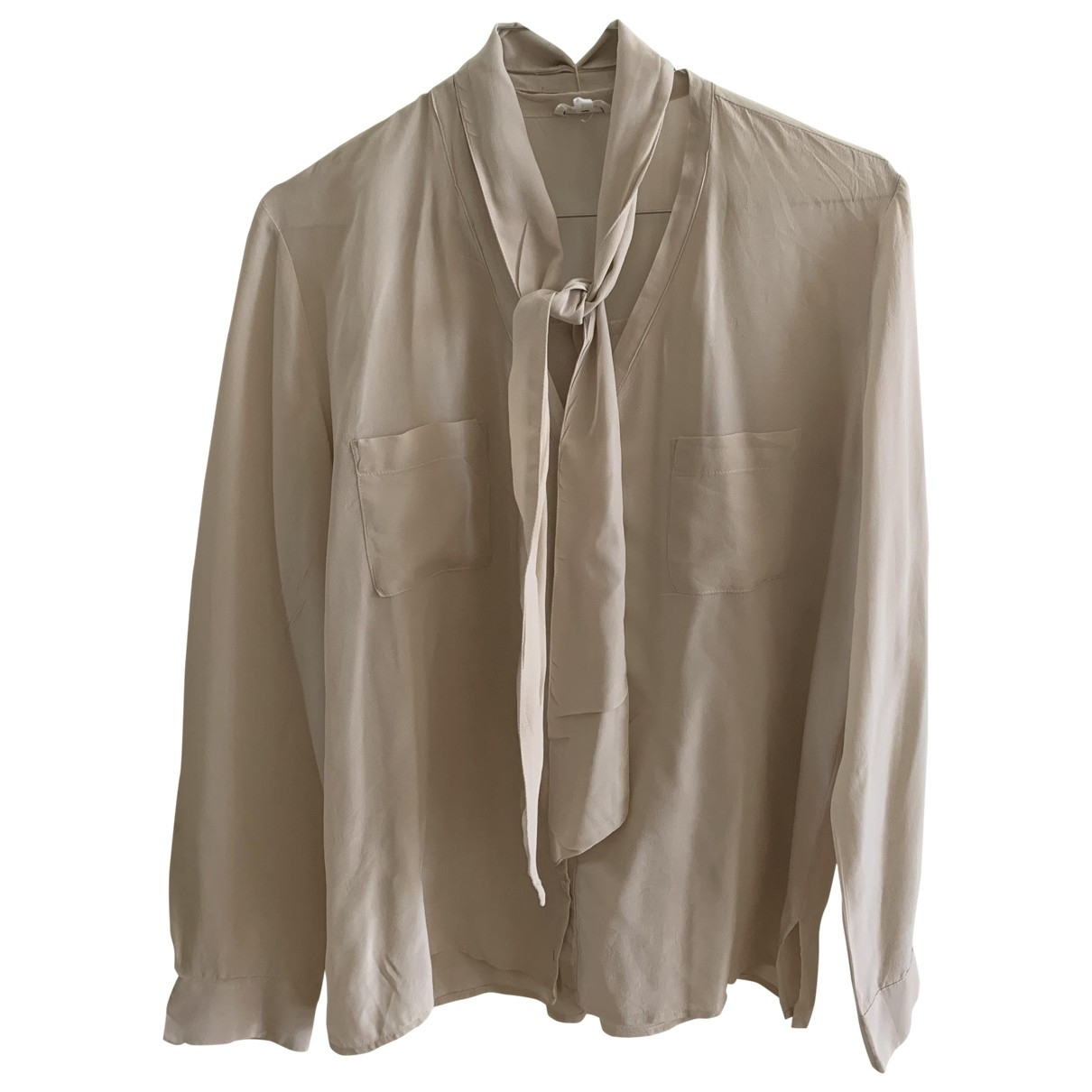 Pablo \N Beige Silk  top for Women 38 FR