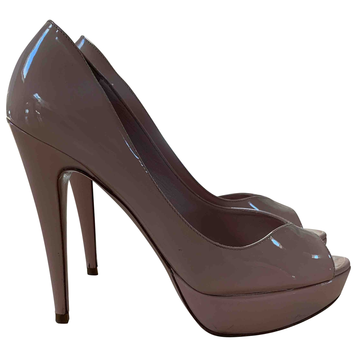 Miu Miu \N Pink Patent leather Heels for Women 39 IT