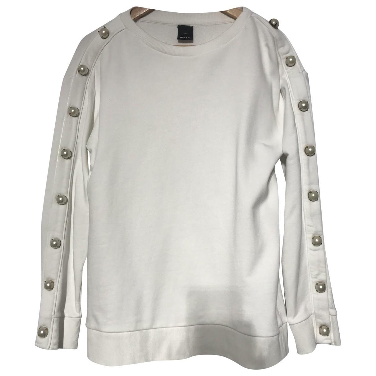 Pinko - Pull   pour femme en coton - blanc