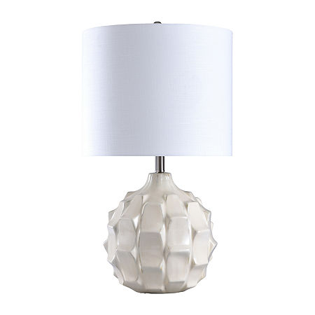 Stylecraft 16.5 W Na X Os White Ceramic Table Lamp, One Size , White