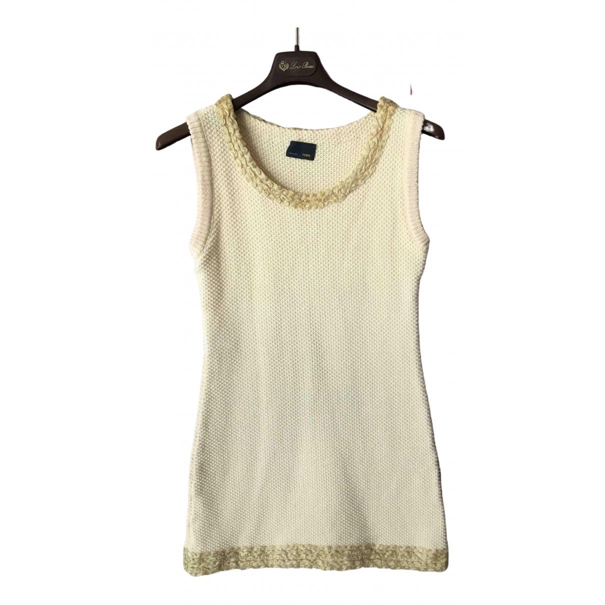 Fendi \N Ecru Cotton dress for Women S International