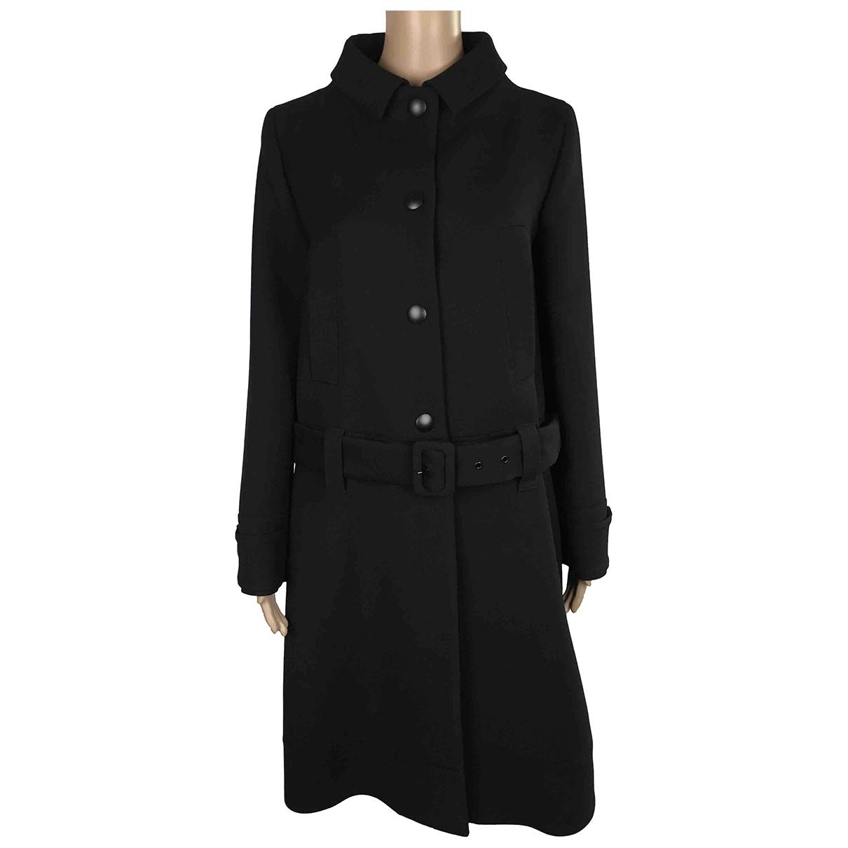 Prada \N Black Wool coat for Women 40 IT