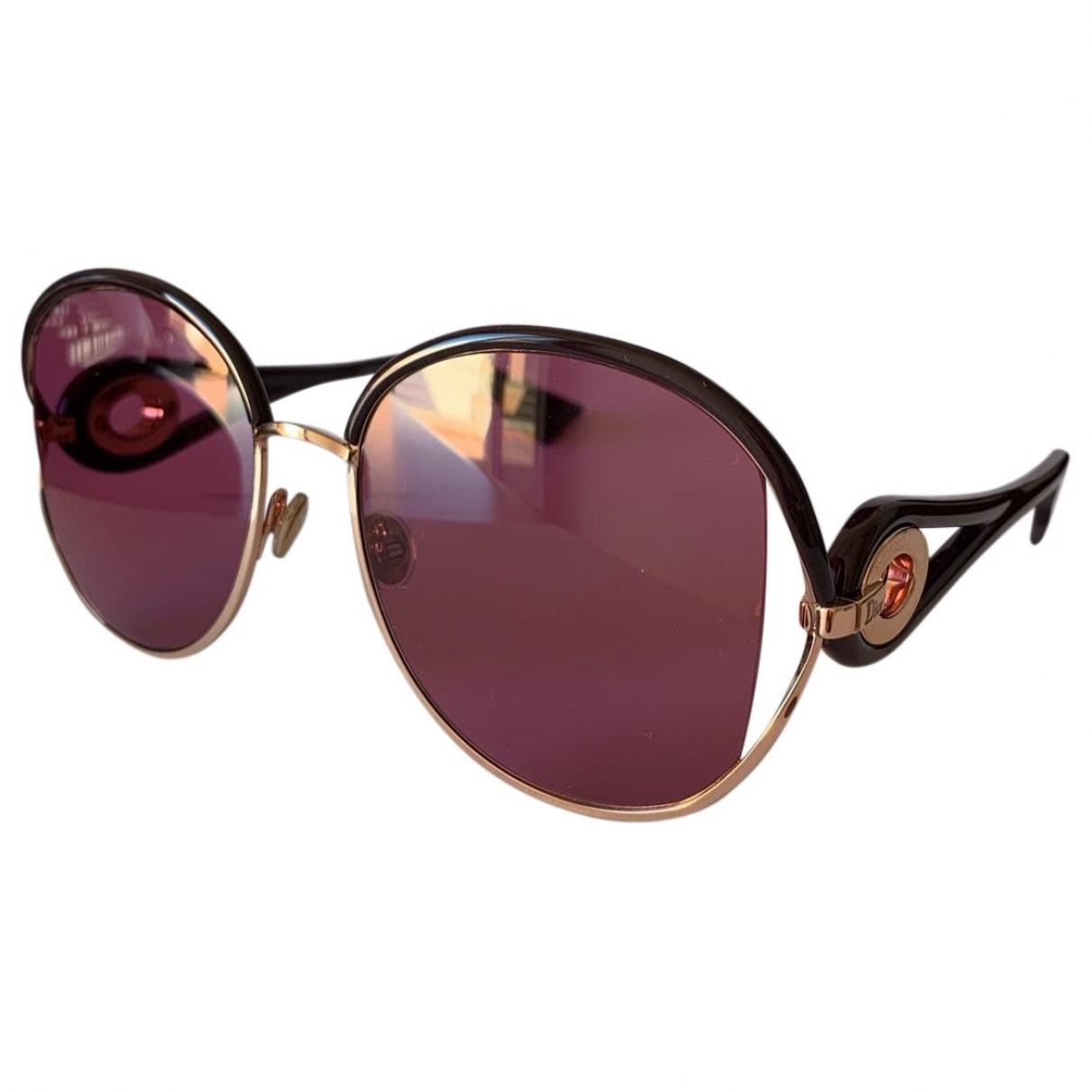 Dior \N Burgundy Sunglasses for Women \N
