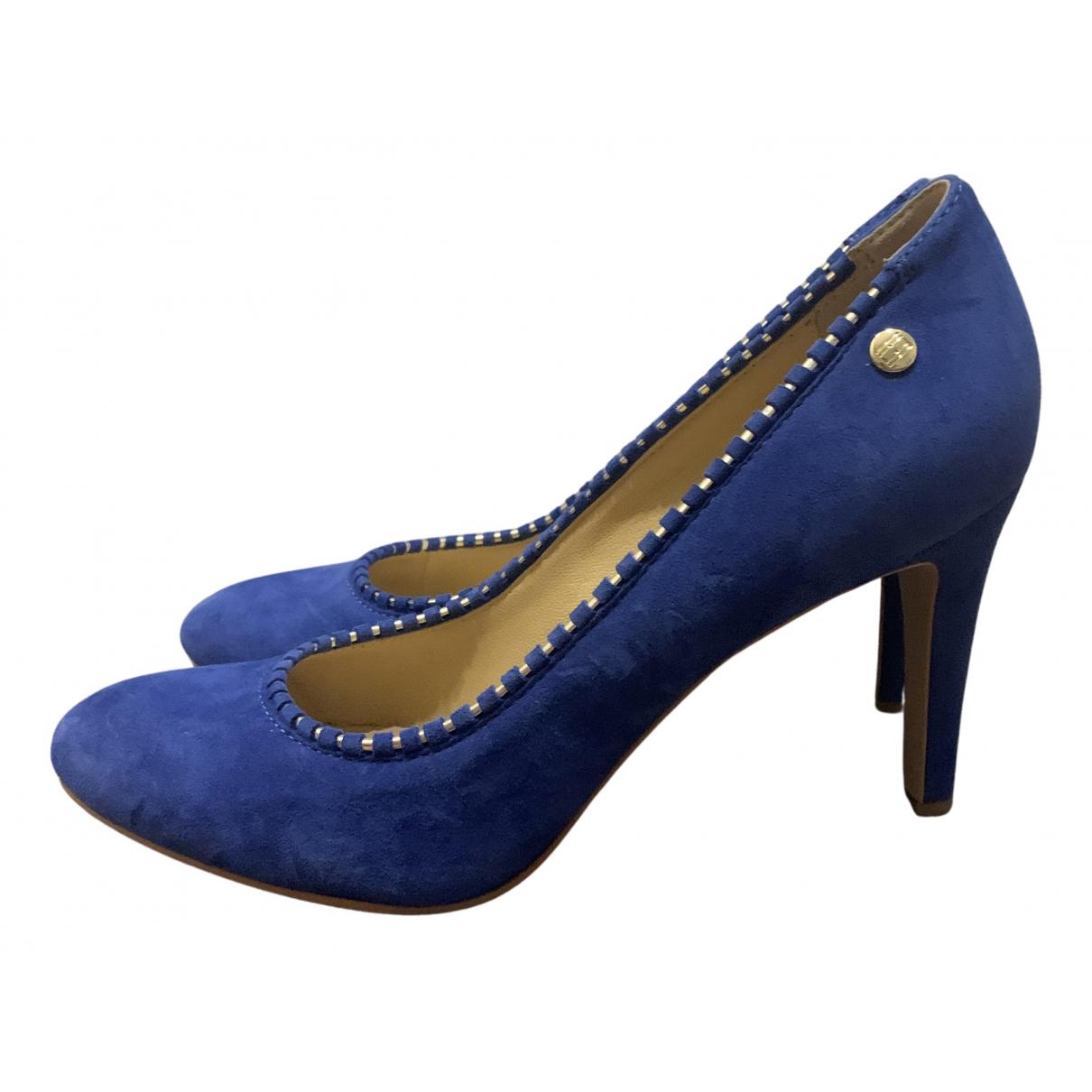 Tommy Hilfiger N Blue Suede Heels for Women 42 EU