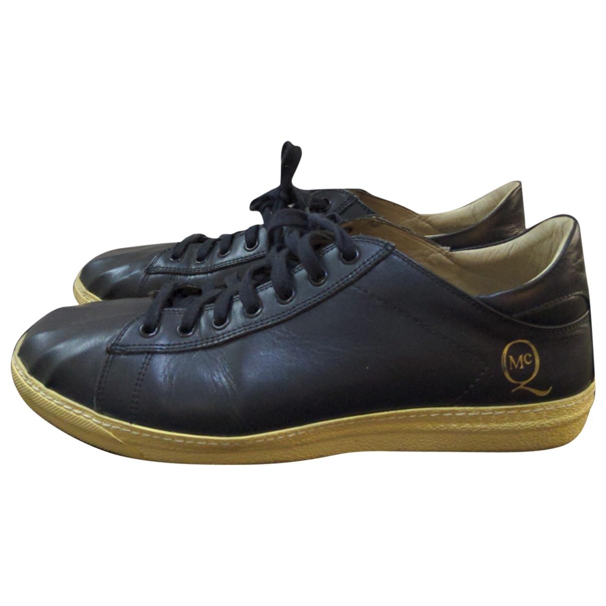 Mcq \N Black Leather Lace ups for Men 42 EU