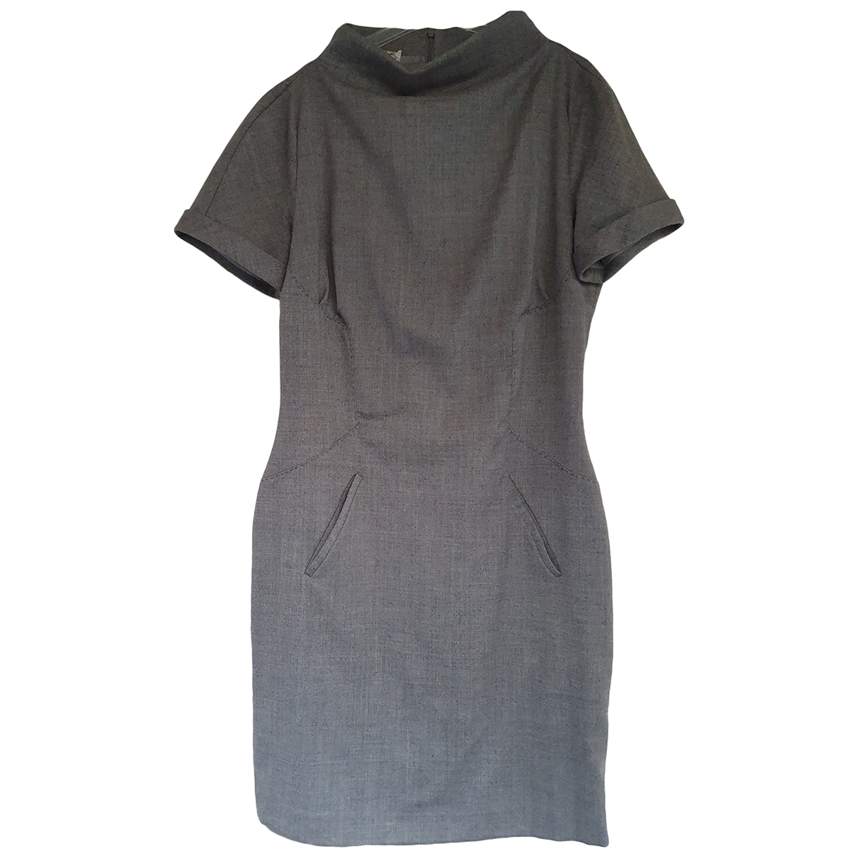Costume National \N Grey Wool dress for Women 44 FR