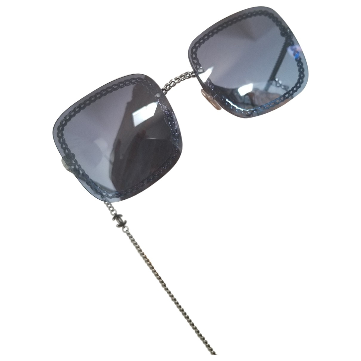 Chanel \N Navy Metal Sunglasses for Women \N