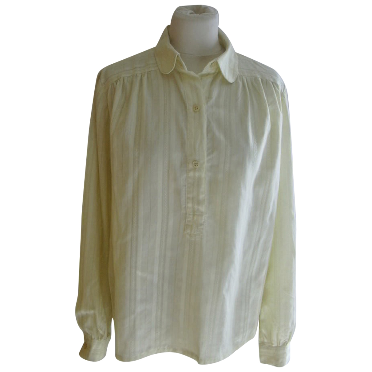 Non Signé / Unsigned \N Yellow Cotton  top for Women M International