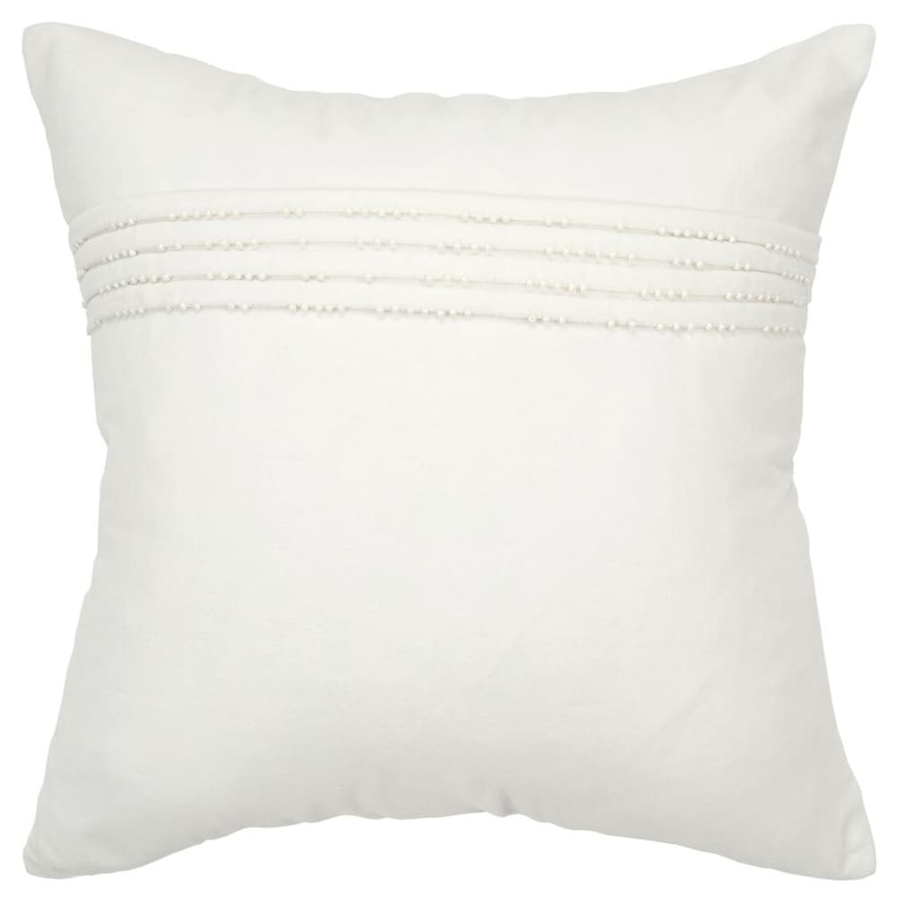Rizzy Home Solid White Decorative Down Filler Pillow - 20