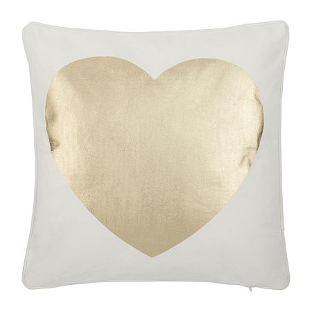 Safavieh Heart White Beige Square Throw Pillow, One Size , White