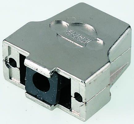 FCT , FMH Die Cast Zinc D-sub Connector Backshell, 37 Way, Strain Relief, Silver