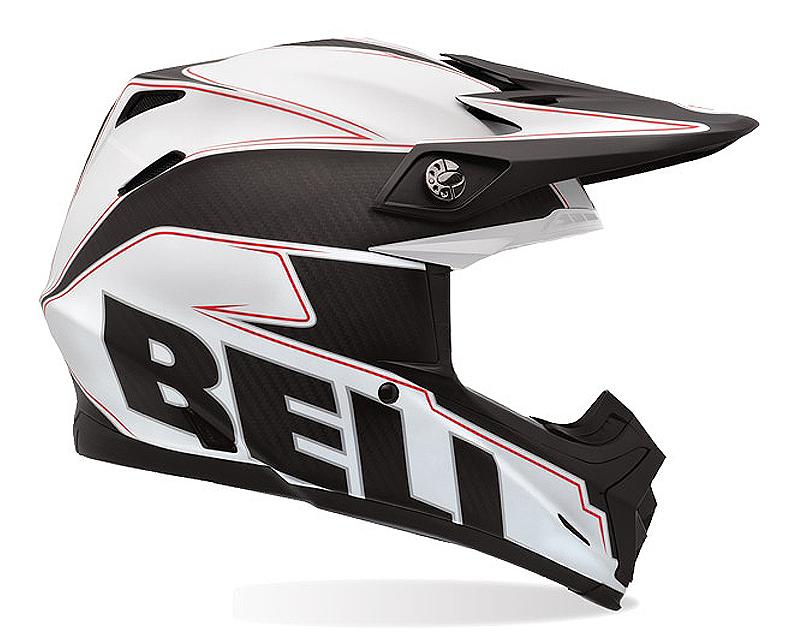 Bell Racing 2036660 Moto-9 Carbon Embem White Helmet 58-59 | LG