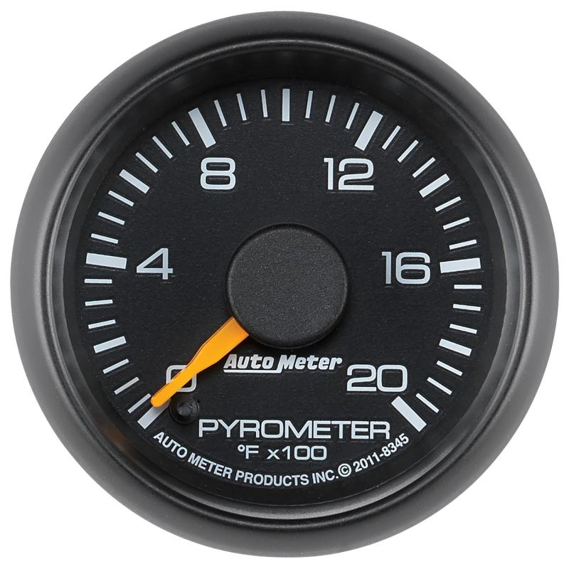 AutoMeter GAUGE; PYROMETER (EGT); 2 1/16in.; 2000deg.F; STEPPER MOTOR; GM FACTORY MATCH