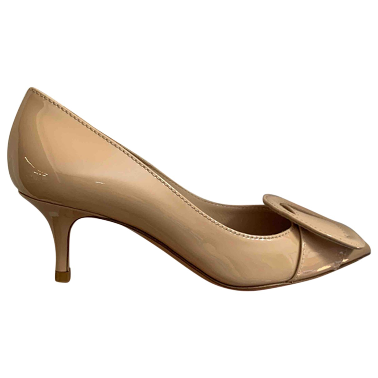 Gianvito Rossi - Escarpins   pour femme en cuir verni - beige
