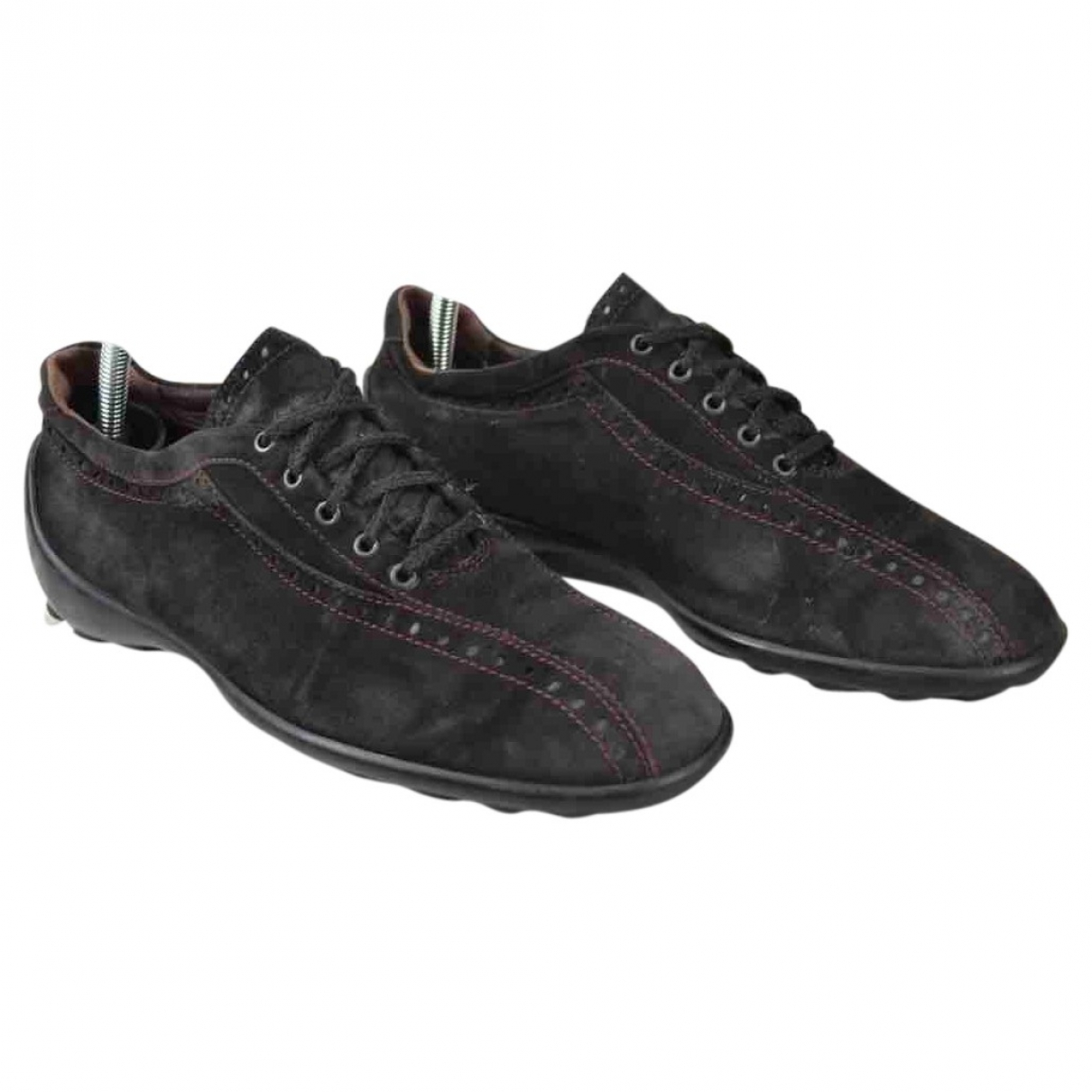 Tod's \N Black Suede Lace ups for Women 38.5 EU