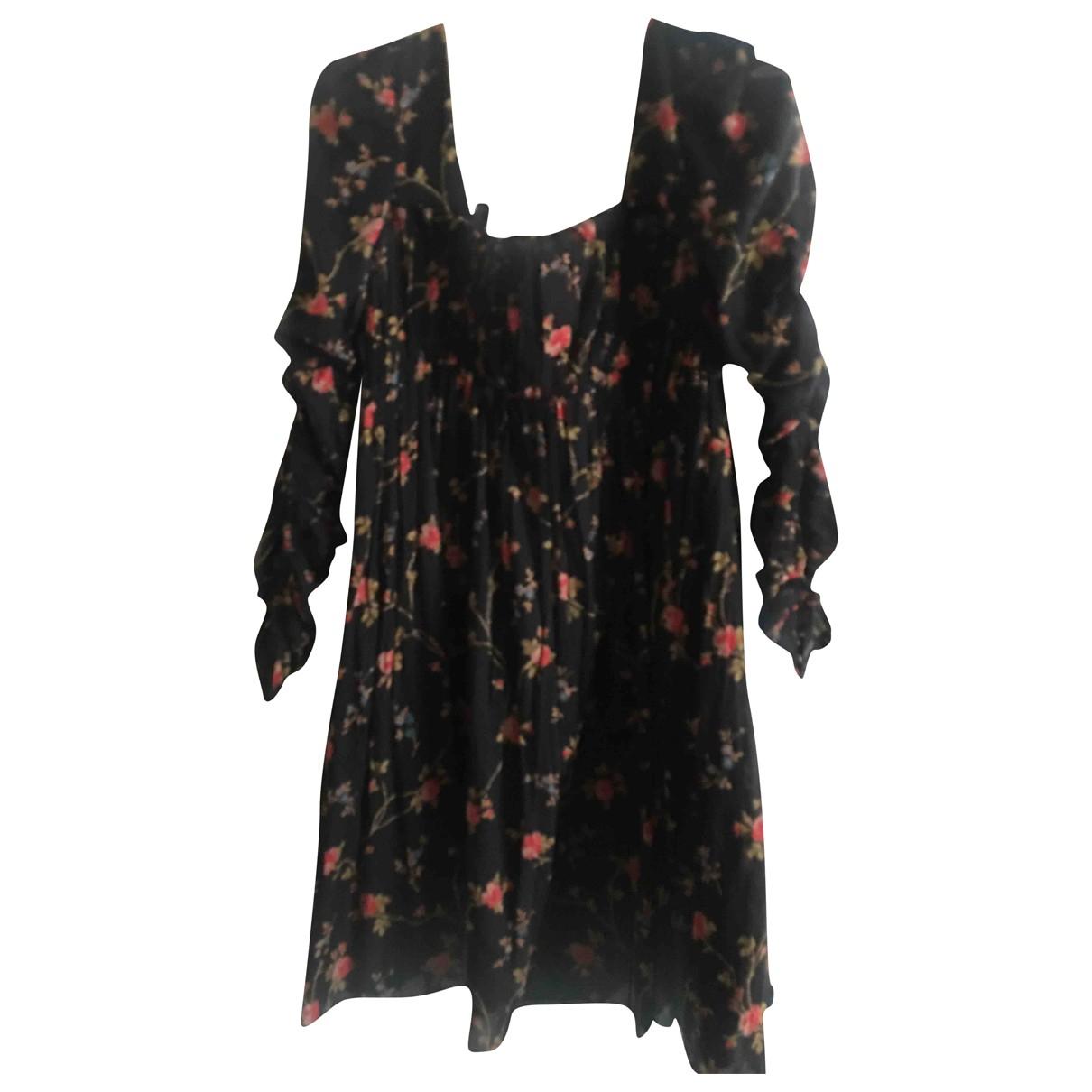 Jill Stuart \N Kleid in  Schwarz Baumwolle