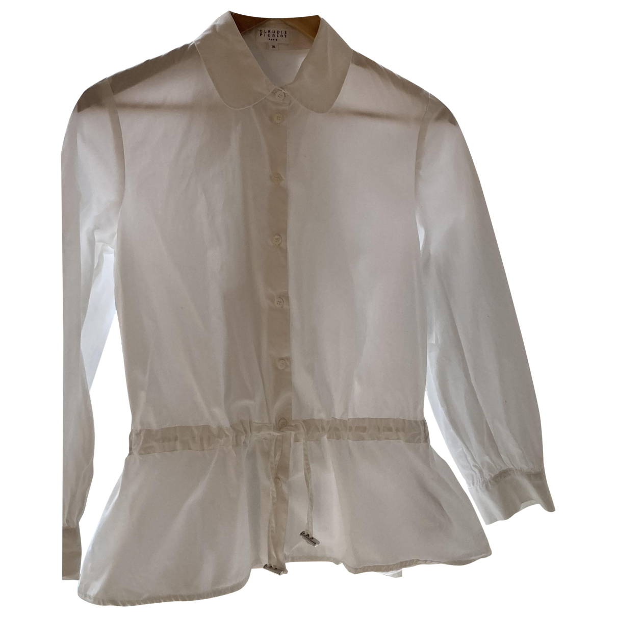 Claudie Pierlot N White Cotton  top for Women 36 FR