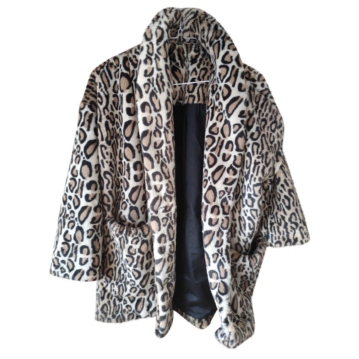 The Kooples N Beige Faux fur coat for Women 36 FR