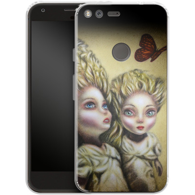 Google Pixel Silikon Handyhuelle - Two Sisters von Tiago Azevedo