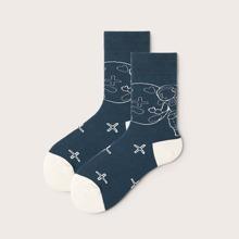Astronaut Pattern Socks