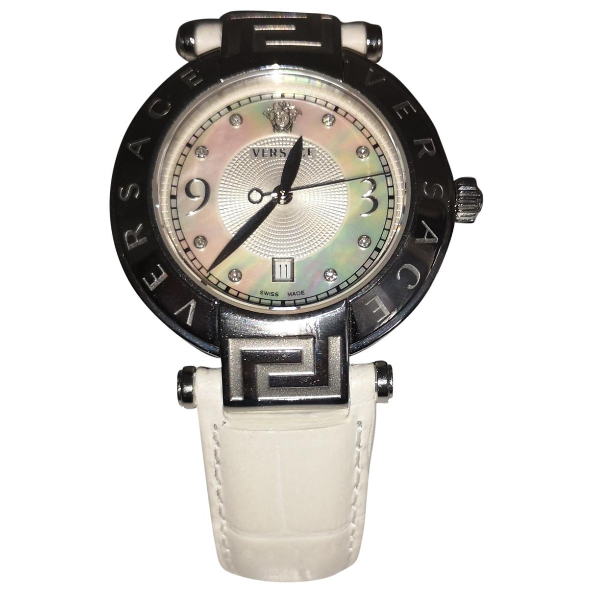 Versace \N White Steel watch for Women \N