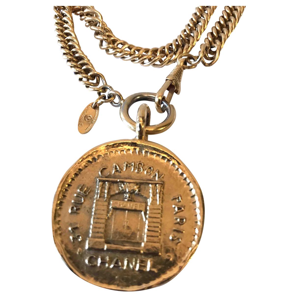 Chanel - Collier CHANEL pour femme en metal - dore