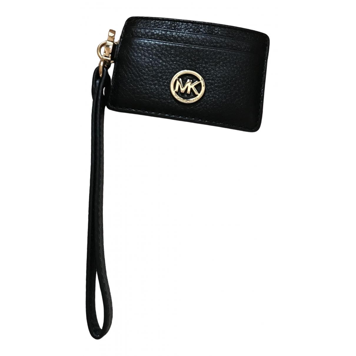 Michael Kors - Petite maroquinerie   pour femme en cuir - noir
