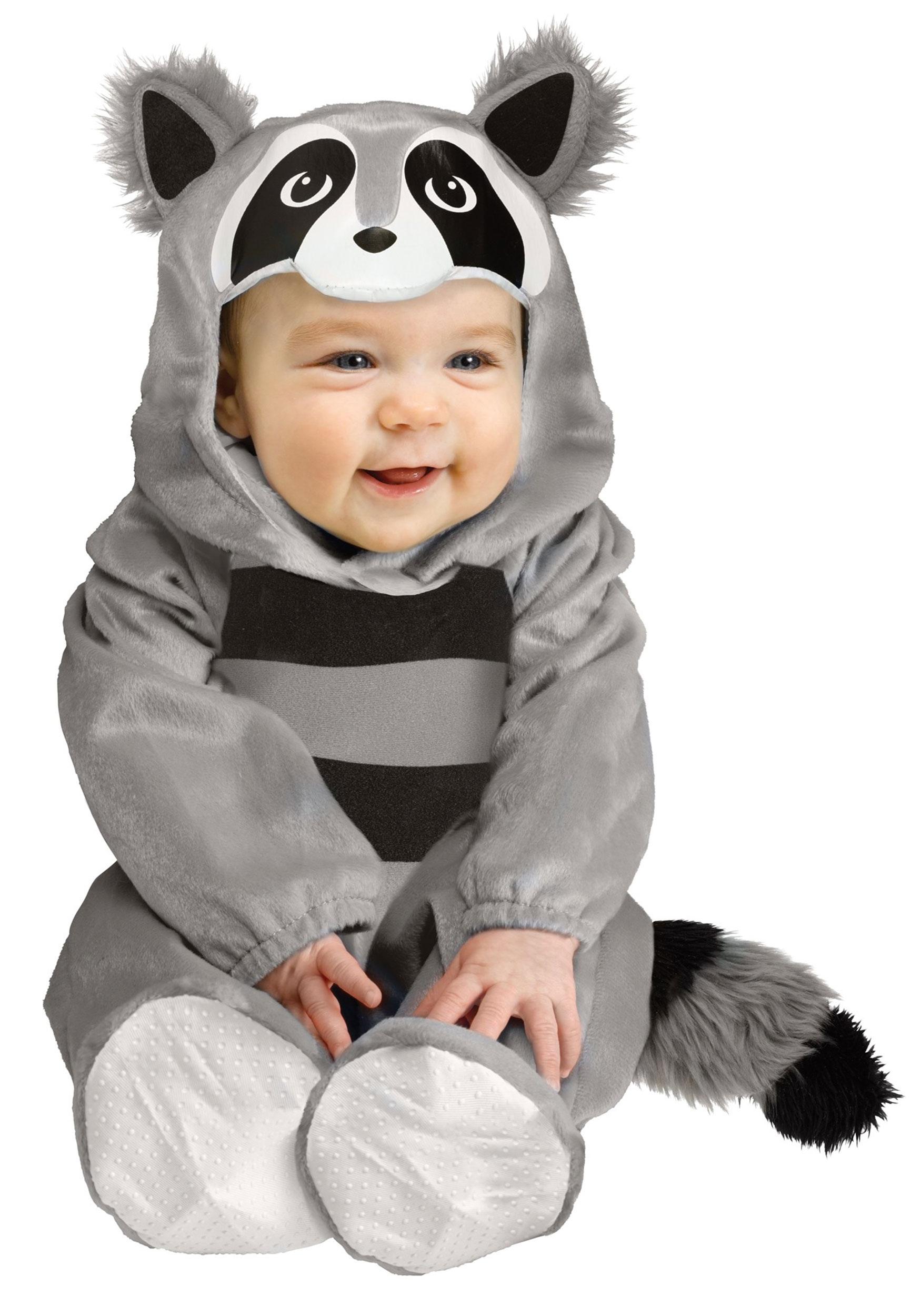 Infant Raccoon Costume   Warm Halloween Costumes for Babies