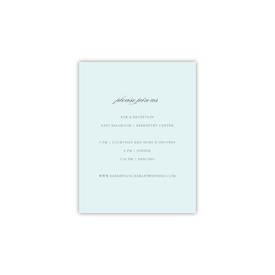 20 Pack of Style Me Pretty Personalized Opulent Border All Purpose Card in Lagoon | 4.25