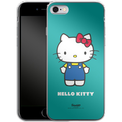 Apple iPhone 6 Silikon Handyhuelle - Hello Kitty Front von Hello Kitty