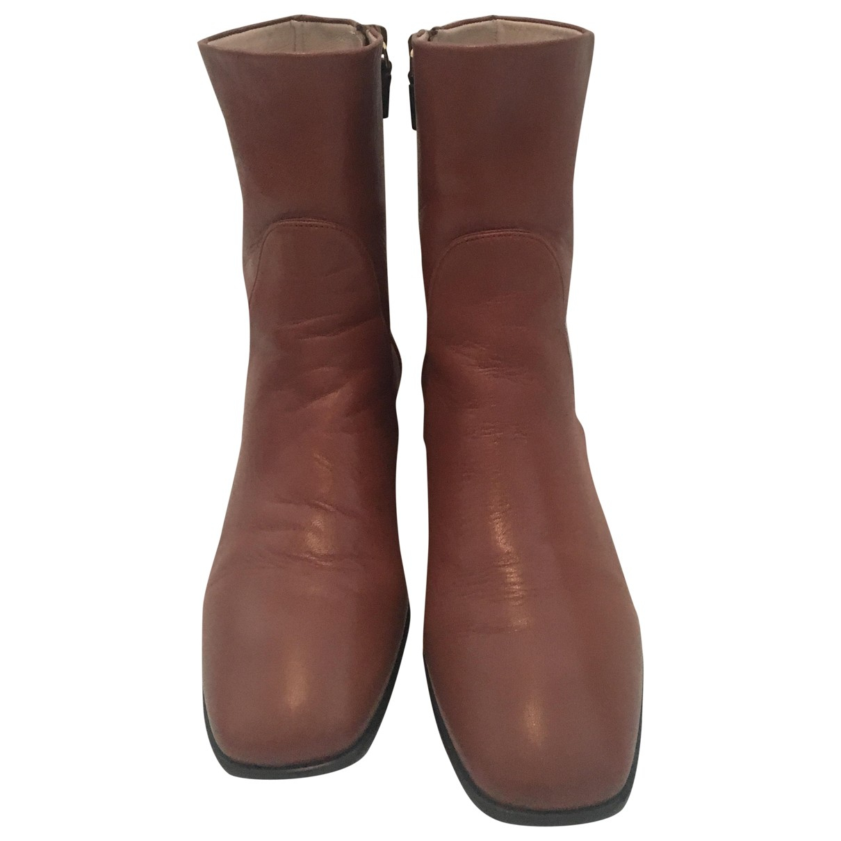 Stuart Weitzman \N Brown Leather Ankle boots for Women 38.5 EU