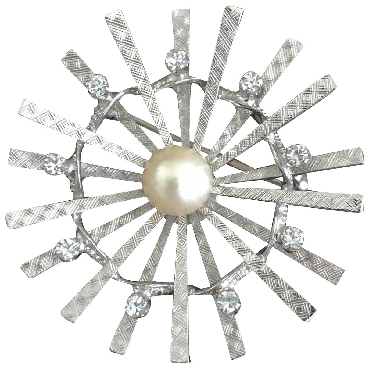 Non Signe / Unsigned Art Deco Brosche in  Silber Silber