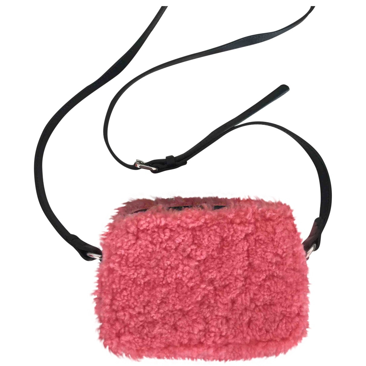 Sandro \N Pink Faux fur handbag for Women \N