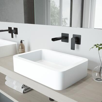 VGT980 Petunia Matte Stone Vessel Bathroom Sink Set With Atticus Wall Mount Faucet In Matte
