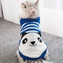 Katze Pullover mit Karikatur Grafik