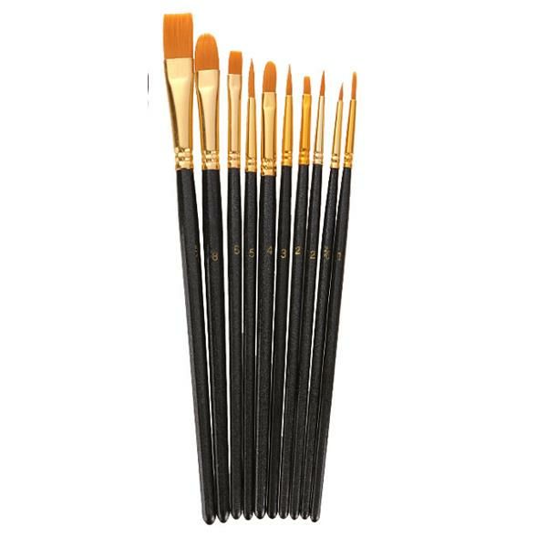 Zhuting 10 Practical Writing Brush Mixing Artist Oil Painting Accessories