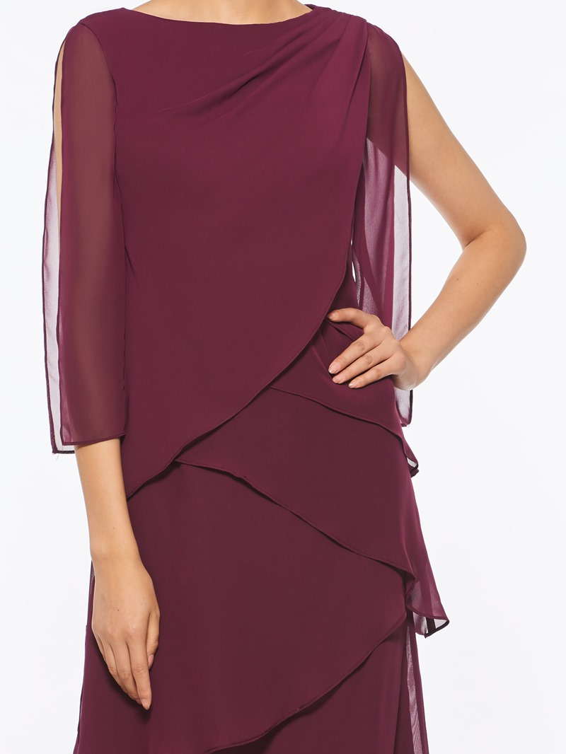Ericdress Tiered Ankle-Length Mother of The Bride Dress