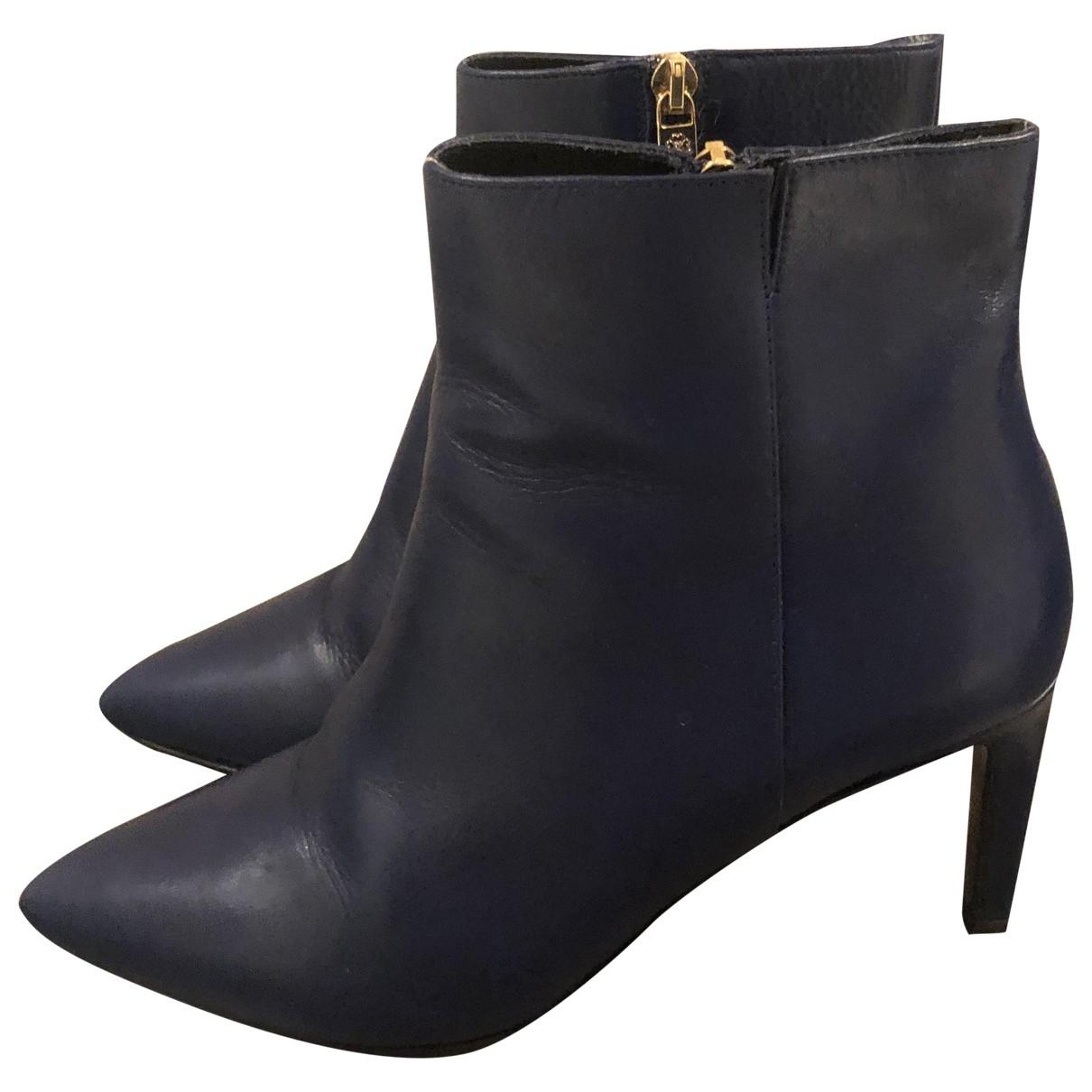 Lk Bennett \N Blue Leather Boots for Women 36 EU
